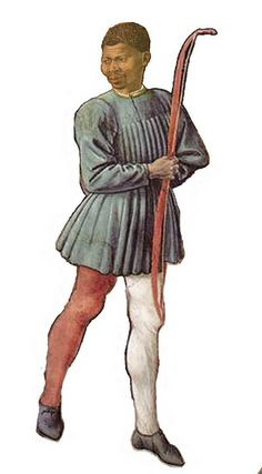 A Moorish Guardsman serving as bodyguard of Cosimo de' Medici, the first of the Medici political dynasty. Ca. 15th century, by Italian painter Benozzo Gozzoli.