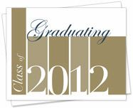 Graduation Announcements 2012 -Golden Simplicity -- HSLDA Online Store