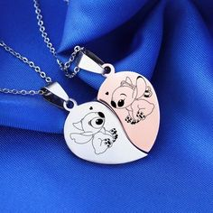 Jewelry OFF! Bowers Gang preferences imagines most to least likely too and zodiacs. Includes: Henry Patrick Belch and Vic. Bff Necklaces, Best Friend Necklaces, Best Friend Jewelry, Friendship Necklaces, Friend Rings, Lilo And Stitch Quotes, Ring Armband, Cute Stitch, Best Friend Outfits