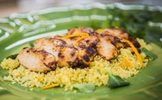 Chicken Breasts Grilled with Spicy Orange-Ginger Glaze