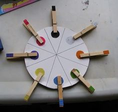 preschool, fine motor color matching - it'd work with upper and lower case letter matching too. Preschool Colors, Preschool Crafts, Crafts For Kids, Teaching Colors, Educational Activities, Toddler Activities, Color Activities, Kids Education, Fine Motor Skills