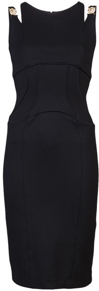 VERSACE Shoulder Dress - Lyst #josephine#vogel