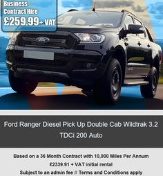 Ford Ranger Diesel Pick Up Double Cab Wildtrak 3.2 TDCi 200 Auto