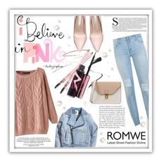 """""""Win this sweater from Romwe !"""" by merima-balukovic ❤ liked on Polyvore featuring 7 For All Mankind, 8, women's clothing, women, female, woman, misses and juniors"""