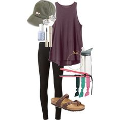 A fashion look from January 2016 featuring RVCA tops, Joseph leggings and Birkenstock sandals. Browse and shop related looks.
