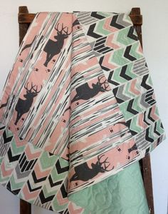 Hey, I found this really awesome Etsy listing at https://www.etsy.com/listing/399699289/baby-quilt-baby-girl-quilt-woodland-baby