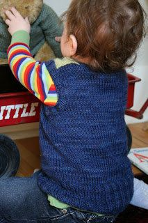 Free Knitting Pattern - Toddler & Children's Clothes: Toddler Snappy Shoulder Vest