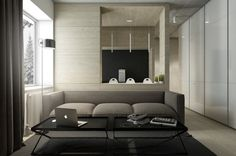 Dark, Neutral Themed Interiors: Ideas & Inspiration - http://www.home-designing.com/2015/10/dark-neutral-themed-interiors-ideas-inspiration