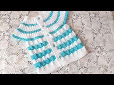 Moda Crochet, Crochet Baby, Womens Boho Tops, Baby Boy Knitting Patterns, Moda Emo, Knit Vest, Patterned Shorts, Youtube, Diy