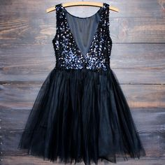 Sugar Plum Dazzling Sequin Darling Party Dress in Black Pretty Dresses, Beautiful Dresses, Under Armour, Casual Dresses, Formal Dresses, Short Dresses, Wedding Dresses, Black Sequins, Dream Dress