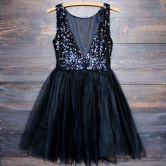 sugar plum dazzling black sequin darling party dress