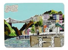 Clifton Suspension Bridge in 'Hotwells View Bristol Placemat £9.50
