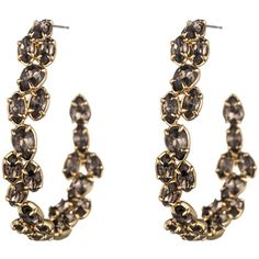 Alexis Bittar Hyperion Hoop Earring ($88) ❤ liked on Polyvore