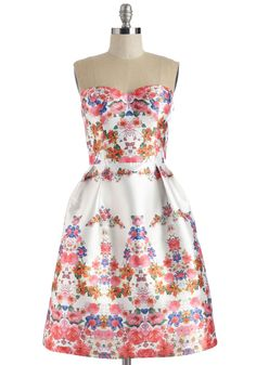 Mirror to My Heart Dress. As you mingle through the garden party, this silky white dress by Chi Chi echoes the love that surrounds you in its stunning style. #multi #prom #wedding #bridesmaid #modcloth