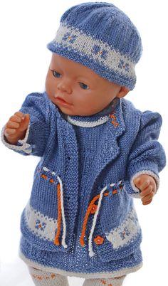 strikket dukketøj til Baby born