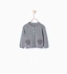ZARA - KIDS - Knit heart cardigan