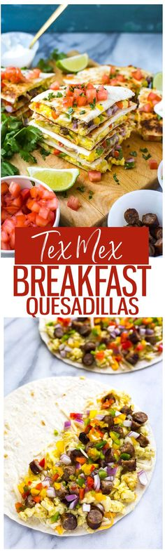 Freezer-Friendly Breakfast Quesadillas | Throw one in the microwave and enjoy on-the-go!