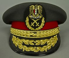 Syrian Arab Army general officers' dress uniform visor cap.