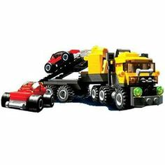 LEGO Creator Highway Haulers by LEGO. $79.90. Transporter measures over 8 inches (20.3 cm) long. Includes building instuctions for all 6 vehicles. Build the car transporter and two cars at the same time. From the Manufacturer                This new set is crammed full of pieces that make up 6 different super cool vehicles! Build a car transporter and two cars at the same time, or build a dune buggy, a dump truck, or a race car! That's 6 different vehicles and t...