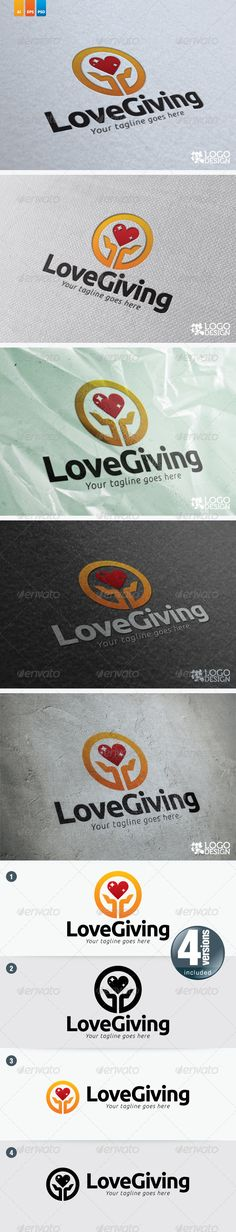 54 best logo templates images on pinterest logo templates font love giving graphicriver this logo suit for any charity organization font ubuntu bold stopboris Choice Image