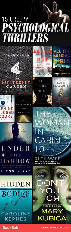 15 creepy psychological thrillers worth a read.
