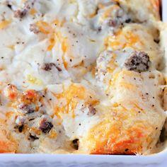 Italian Breakfast, Breakfast Bagel, Breakfast Items, Sausage Breakfast, Breakfast Dishes, Breakfast Casserole, Casserole Dishes, Casserole Recipes, Breakfast Recipes