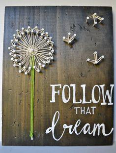 Follow that Dream String Art by AcquamarinaShop on Etsy https://www.etsy.com/listing/228832494/follow-that-dream-string-art