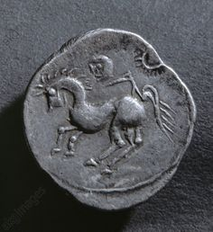 Horse and sun / silver coin / Celtic Coins Budapest, National Museum.