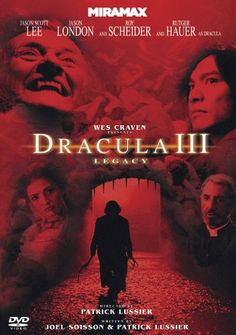 and now, Dracula III: Legacy adds Rutger Hauer to a returning cast starring Jason Scott Lee, Jason London and Roy Scheider. Jason Scott Lee, Top Movies, Scary Movies, Movies To Watch, Diane Neal, Dracula, Horror Films, Horror Stories, Wes Craven Movies