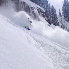 Outriding the whitewash. #shred #utah #powder #ski #snowboard