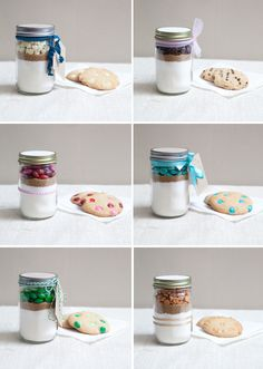 dulceetdecorus:   DIY | mason jar cookie mix favor