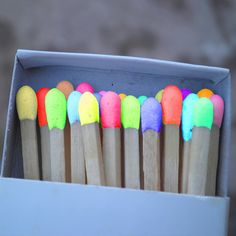 #wedding bright. Neon Matches real? burn neon? I don't know but another 'bright' wedding idea.
