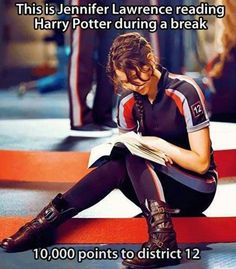 Hunger Games reads Harry Potter