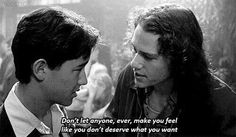 If you belong to the Millennial generation, it's more than likely you learned a little something about life, love, and the pursuit of happiness from 10 Things I Hate About You. Objectively, the film had all the hallmarks of a quintessential hit teen… Tv Quotes, Mood Quotes, Life Quotes, Quotes From Movies, Qoutes, Cinema Quotes, Famous Movie Quotes, Joker Quotes, Quotations