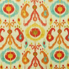 Holiday Fiesta Red Ikat Drapery Fabric by Richloom - SW52913 - Fabric By The Yard At Discount Prices