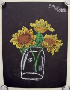 Art with Mrs. Nguyen (Gram): Van Gogh Sunflower Drawings (2nd)