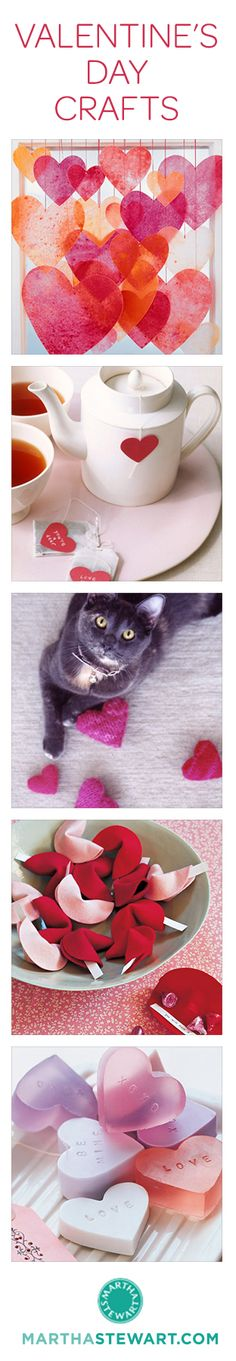 25+ of our favorite Valentine's Day crafts from Martha Stewart Living.