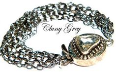 quartz clasp in sterling silver enhances this silver chain bracelet - http://www.clunygreyjewelry.com/chain-bracelets.html