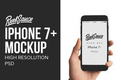 iPhone 7+ Mock Up - High Resolution by Pixel Sauce on @creativemarket