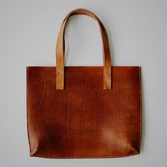 handmade leather tote by port leather - @Justin Meyer nice work!