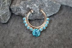 Hey, I found this really awesome Etsy listing at https://www.etsy.com/listing/238923097/fake-septum-ring-rose-gold-crystal-faux