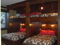 Bunk Room!!! we can use all the existing double and twin beds we use for one big sleeping room :)