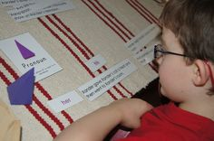 Have you thought about using Montessori education for homeschooling your elementary-age child? This post has links to a lot of Montessori elementary homeschool inspiration! (Photo from http://makingmontessoriours.blogspot.com/2012/03/our-introduction-to-pronouns.html Roundup post from http://livingmontessorinow.com/2012/04/12/montessori-elementary-homeschool-inspiration-and-ideas/)