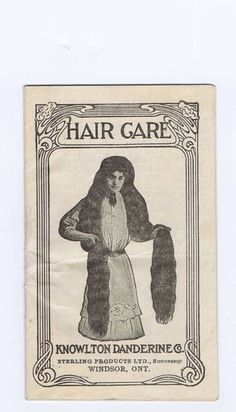 vintage hair care products - Google Search