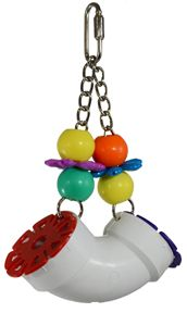 PVC Forager with kids toys to achieve both manipulative and sensory enrichment