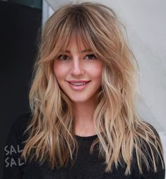 50 Cute and Effortless Long Layered Haircuts with Bangs - Long Shag Haircut With Long Bangs - Medium Hair Styles, Curly Hair Styles, Long Hair Fringe Styles, Medium Length Hair With Bangs, Easy Formal Hairstyles, Hairstyles Haircuts, Summer Hairstyles, Homecoming Hairstyles, Bang Haircuts