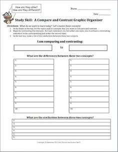 Science Stuff: FREEBIE: A Compare and Contrast Graphic Organizer