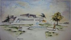 Architectural watercolor by ismael omer