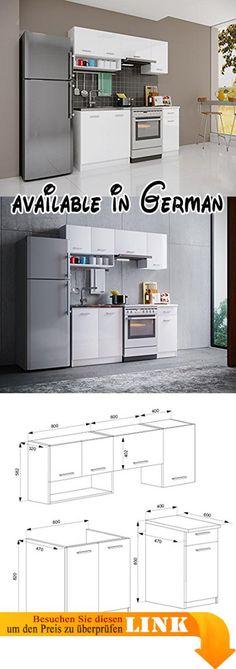 B004GDML0O  Glas Hängeschrank Weiß 100 cm - Witus Glas - küchenschrank hochglanz weiß