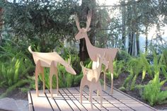 32in tall Cardboard Christmas Deer Family  Free by MettaPrints, $49.00